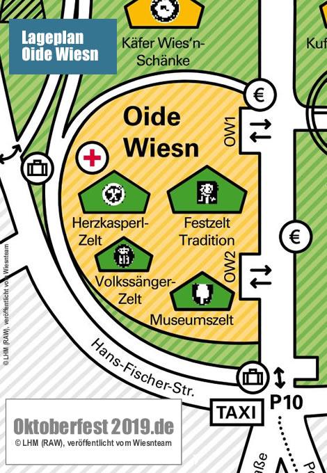 Lageplan Oktoberfest 2019 Wiesnplan Von Der Theresienwiese